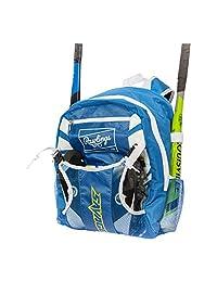 Rawlings Youth Savage 棒球球棒包 - 带外部头盔支架的球包,适合棒球、T 型球和垒球装备和青少年和成人装备 | 可容纳球棒、头盔、手套、鞋子