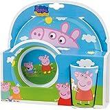 Joy Toy 快乐玩具 748690 粉红猪小妹 2 个密胺盘和杯子礼品套装