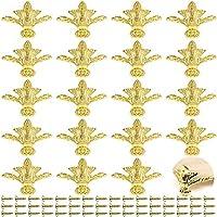 PGMJ 20 件复古设计装饰木盒腿,珠宝盒腿五金件用于复古木盒、橱柜、珠宝盒、礼品盒、酒盒、工具箱 (K44_3)