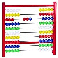 Abacus 计算框架 100 个彩色珍珠 红色