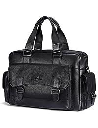帕宾 pabin 男式旅行包头层牛皮手提包超大公文包 旅行包多功能休闲挎包