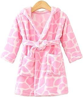 JZLPIN 中性款婴儿连帽浴袍儿童法兰绒睡衣晨衣适合男孩女孩