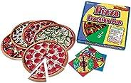 Learning Resources 披薩分數趣味游戲,13個比薩分數,16件游戲,適合6歲以上的人群,多色
