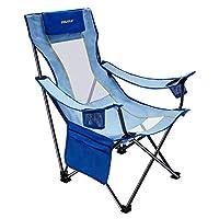 #WEJOY 便携式折叠网眼背部海滩吊带椅带杯架,口袋,可拆卸枕头,31 × 22/31 × 17/36.8英寸,7.5磅