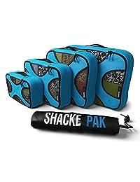 Shacke Pak - 4 件套收纳包 - 旅行收纳包,带洗衣袋