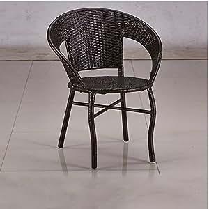 京好 藤椅茶几三件套 仿藤椅阳台户外庭院桌椅组合A77 (单买1椅子(颜色备注))