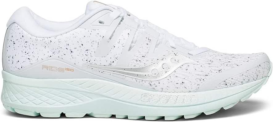 Saucony Ride ISO 女士跑步鞋 白色 8 M US