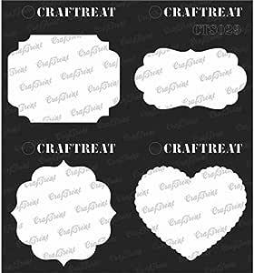 "CRAFTREAT 几何图形 II 模板主题 Frames & Masks 6""X6"" CTS029"