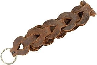 Hide & Drink,皮革钥匙扣手链,手带,波西米亚风格,钥匙收纳,配件,手工制作包括 101 年质保:波旁棕色