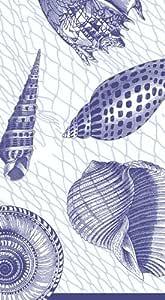 Caspari 餐巾纸海滩派对俱乐部餐巾纸餐巾纸蓝色贝壳 蓝色 Guest Towels Pack of 30 43234-511