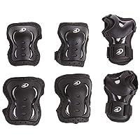 Rollerblade Bladegear XT 3 件装防护装备,护膝,肘部护垫和护腕,多种运动保护,男女皆宜,黑色