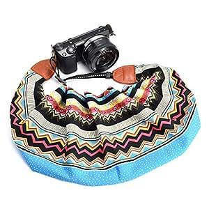 LIFEMATE 围巾相机肩带,数码单反相机皮带通用颈带,波西米亚花卉图案围巾相机带 Style 58 LM-NCS2019