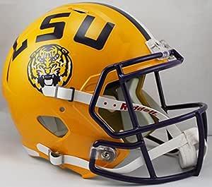 Riddell NCAA LSU Tigers 全尺寸快速复制头盔,黄色,中号