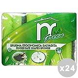 Martini Set 24 Martini 海绵 + 光纤绿色手指绿色 * 3 件装。