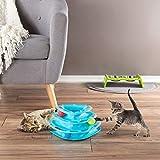 PETMAKER 互动猫咪玩具滚珠塔 - 3 层三角形轨道带滚球,适用于猫咪和小猫咪,适合运动、玩耍