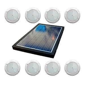 自然电流 NCSCEL220WLTSAN 220 瓦锯齿状盐系统泳池氯生成器和 SMD LED 红绿蓝灯