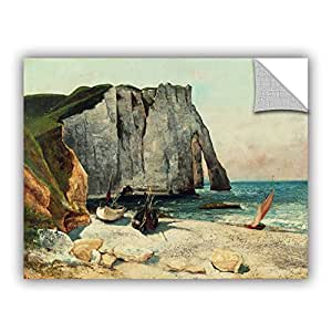 """ArtWall 1cou001a1418p """"Gustave Courbet's The Cliffs Of Etretat, The Port Of Avale, 1869"""" Removable Wall Art, 14"""" by 18"""""""