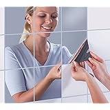 DIY方镜墙面贴 自粘创意家居装饰 自由组合3D可移反光镜子 反光贴纸 能移动的镜子 随意组合镜子 宿舍镜子