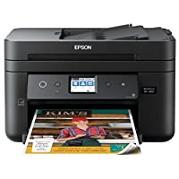 Epson 愛普生 Workforce WF-2860 一體式無線彩色打印機,掃描儀、復印機、傳真、以太網、Wi-Fi Direct 和 NFC,亞馬遜 Dash Replenation 啟用 WF-2860