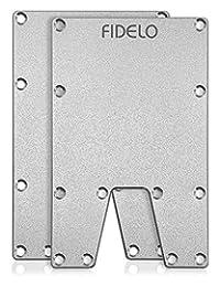 FIDELO 男士極簡錢包 - 超薄 RFID 信用卡夾錢夾