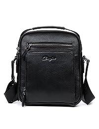 DANJUE 丹爵 男式 头层牛皮单肩包斜挎包手提包欧美时尚潮流包 D8079H