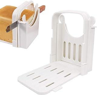 DOUBLE 2 C 面包切片器可折叠面包切片指南,5 片切片厚模