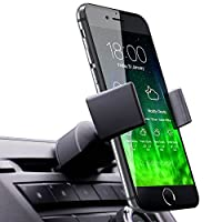 koomus PRO CD SLOT 智能车载手机支架底座适用于 iPhone 66plus 5S 5°C Samsung Galaxy 和所有智能手机 黑色