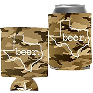 隔热罐饮料冷却器配件 - TEXAS BEER Tan Camo - 1 Pcs.