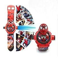 益智动漫电子玩具 24投影学生表 创意儿童卡通手表 3D投影手表 (蜘蛛侠)