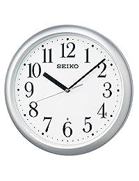 SEIKO CLOCK (セイコークロック) 掛け時計 電波 アナログ 銀色メタリック KX218S