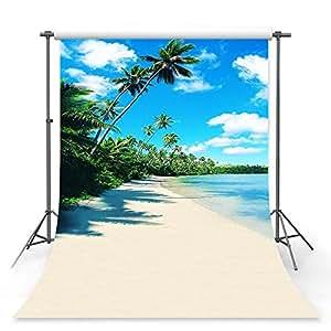 mehofoto 摄影背景夏日海滩海洋派对影楼 Booth 背景 Style4 5x7ft