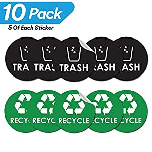 Evolve Skins 垃圾回收堆肥组 10pack (5 Black Trash & 5 Green Recycle)