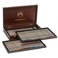 創意藝術材料 Caran D'ache 發光彩色鉛筆套裝 80 個木盒 (6901.476)
