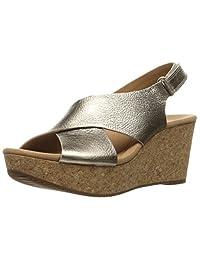 Clarks 女式 Annadel Eirwyn坡跟凉鞋