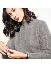 唐岚 秋冬新款羊绒衫女半高领加厚羊毛衫宽松毛衣短款针织打底衫