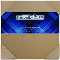 25 张纸板,24pt(点)17.78 X 17.78 cm 轻质剪贴簿 方形尺寸 .024 卡钳厚度纸板工艺|包装棕色牛皮纸板