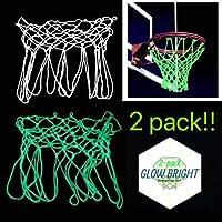 Glow Bright 重型标准夜光篮球网 - 2 个装(*和白色)