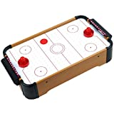 Wooden Mini Table Top Air Hockey Game Set 21 - Battery Operated