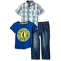 DKNY 唐可娜儿男孩运动针织衬衫和裤子套装