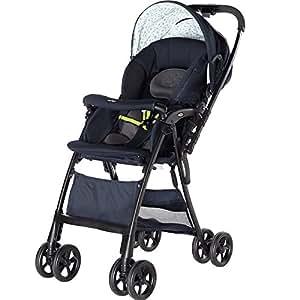 日本 Aprica 阿普丽佳 婴儿推车 凯乐全能高景观儿童推车伞车 (星星)  车重5.2kg (适合0-3岁宝宝,双向推车把手,5点式安全带,单手收车可自立,空冷式散热折射椅背双向可视遮阳蓬)