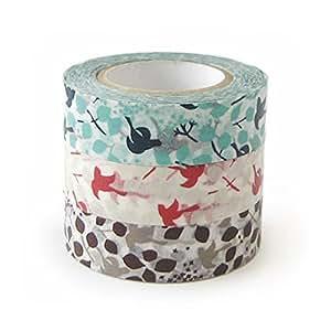 Classiky 日本 Washi 纸面罩胶带 3 张/10 张到 sen [26531 ] 26531-01