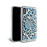 iPhone X Case - FELONY CASE - Beautiful & Stylish 3D Geometric Kaleidoscope Design - Shock Absorbing Protective iPhone X Case Protects Screen & Body CLEAR COSMIC HOLOGRAPHIC