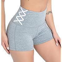 DILANNI 女式瑜伽短裤运动健身跑步海豚短裤适用于运动健身房