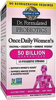 Garden of Life 生命花園 女性益生元博士,每天一次,為女性提供益生元,500億CFU,16株菌株,貨架穩定,不含麩質乳制品和大豆,益生元纖維,30粒