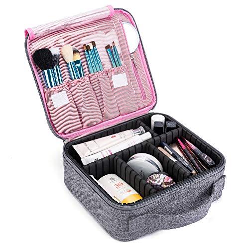 CoolBELL化粧品袋旅行化粧品収納箱化粧品収納箱化粧品調整可能な分離ボックス化粧ブラシジュエリー化粧ブラシデジタルアクセサリー