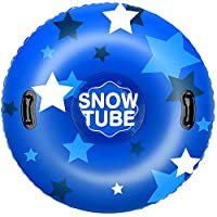 Leader Accessories 0.6 毫米加厚重型充气雪管,适合儿童和成人,超大直径 47 英寸雪橇
