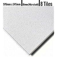 悬停式天花板瓷砖 TEGULAR Edge(微观 15 毫米)600 毫米 x 600 毫米,带声卡
