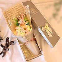 香皂花玫瑰花礼盒肥皂花束送女友ins超火的生日礼物女生韩国创意1914粉兔+粉奥+灯+礼盒