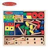 Melissa & Doug 美丽莎和豆豆 益智玩具 木质建筑套装盒装(48块)
