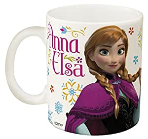 Zak Designs Disney Frozen 11 oz. Ceramic Coffee Mug, Elsa & Olaf